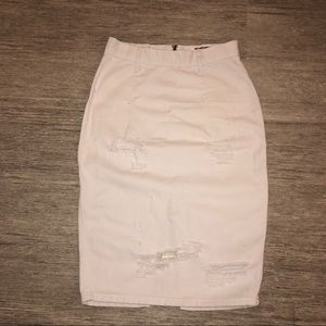 One Teaspoon Nasty Gal White Freelove Skirt
